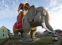 Lucy The Elephant (Steve Maciejewski) Tags: newjersey hurricane nj shore nationalhistoriclandmark lucytheelephant margatecity hurricaneirene