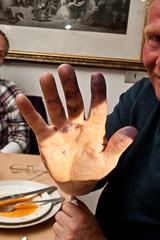 Blueberry hand (olikristinn) Tags: iceland tour august riding horseback horsebackriding snfellsnes breidavik snaefellsnes tour3 2011 grof grf 1282011 icelandhorsebackriding