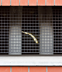 oblique peek (MyArtistSoul) Tags: light red brick metal wire view mesh minimal nl groningen pillars 70200mmf4 7184 underbuilding neartrainstation