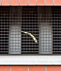 oblique peek (MyArtistSoul) Tags: light red brick metal wire view mesh minimal nl groningen pillars 70200mmf4 7184 underbuilding neartrainstation