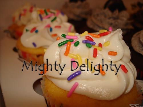 Cake batter vanilla butter cream frosting vanilla cupcake Hurricane Irene
