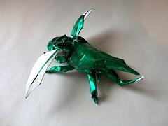 Hercules Beetle (Eunice Lin Origami) Tags: origami beetle hercules satoshi kamiya