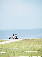 sea (saki_cho) Tags: blue sea people japan olympus chiba olympuspen zuiko olympusepl1