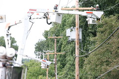 BGE Crews Restore Power (MyBGE) Tags: power safety electricity restoration storms bge outages hurricaneirene baltimoregaselectric