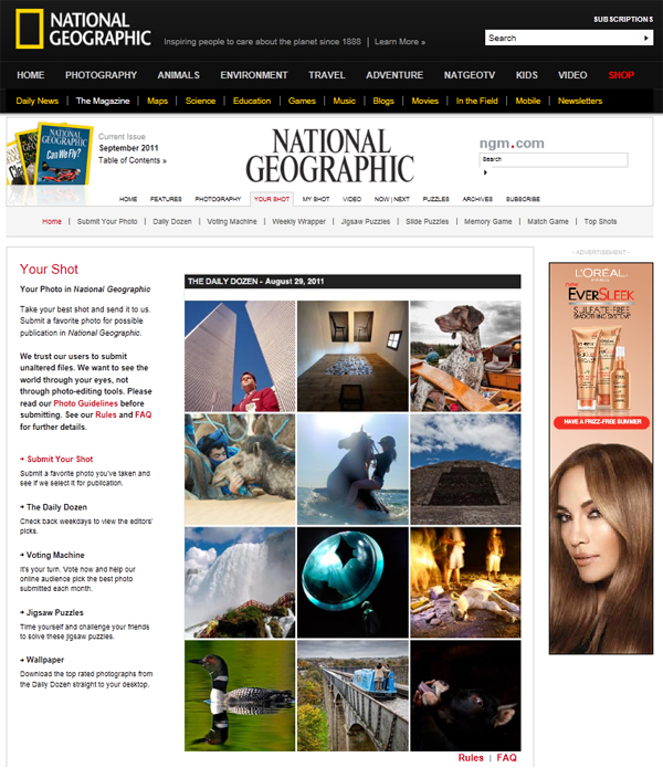 Brika Wins a Nat Geo Daily Dozen