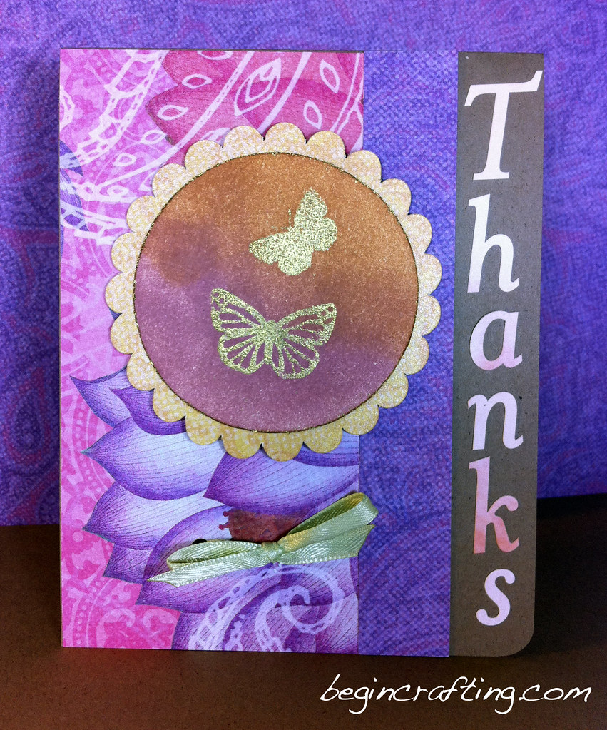 Handmade Embossed Butterfly Card
