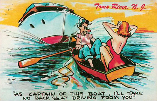 Toms River Postcard 1958