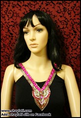 IMG_0001 (Shaylati) Tags: hijab shayla handpaintedsilk ribbonnecklace collarnecklace