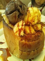 カフェ・ピアネータのトーストスイーツの写真