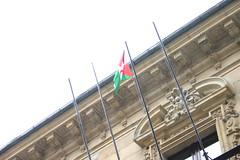 Bandera de RASD en la casa consistorial.