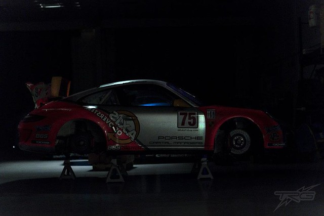 Axis GT3 Cup sleeping at TRG's shop....