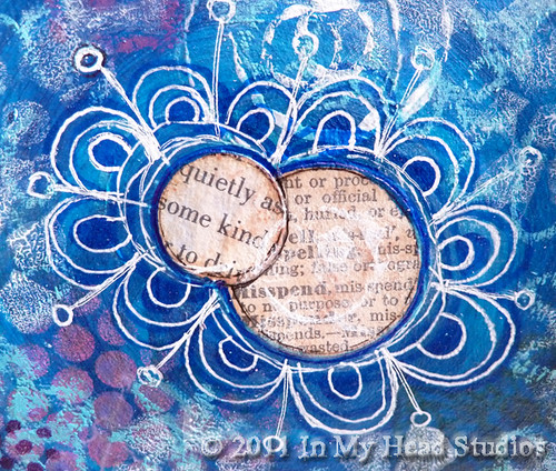 Blue & Magenta Circles :: Text Flower Detail