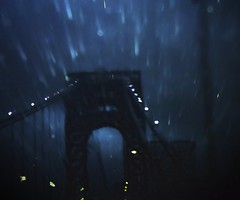The George Washington Bridge, Hurricane Irene 2011 (mudpig) Tags: nyc newyorkcity longexposure bridge ny newyork rain night newjersey nikon highway hurricane nj coolpix thunderstorm irene gothamist gwb georgewashingtonbridge i95 interstate95 mudpig stevekelley hurricaneirene s6100 stevenkelley