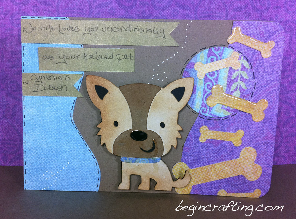 Handmade Dog Bereavement Card