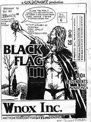 Black Flag / D.O.A. / Descendents / Minutemen (Wires In The Walls) Tags: punk scanned minutemen 1980s auditorium doa flier blackflag descendents raymondpettibon goldenvoice wnox lowellblanchard