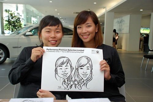 Caricature live sketching for Performance Premium Selection first year anniversary - day 2 - 2