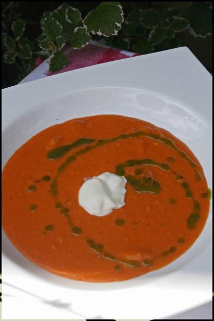 6115311044 cb0488f312 z Soupe de tomates rôties au miel