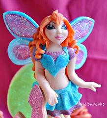 Bloom (anna savenko (sVeshti4ka)) Tags: cake girly sugar bloom figurine picnik fondant winx
