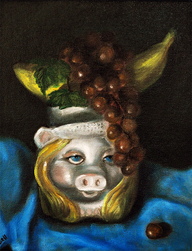 Miss Piggy as Carmen Miranda by Gayle Bell