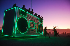 boombox art car (hep) Tags: man art car fireworks burningman blackrockcity burning burn brc bm boombox artcar dubstep blackrock 2011 fuckdubstep burningman2011