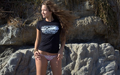 Pretty Swimsuit Bikini Model Goddess (45SURF Hero's Odyssey Mythology Landscapes & Godde) Tags: california woman brown sun hot sexy beach beauty female hair model sand women long pretty surf legs modeling curves goddess 45 socal curly females brunette swimsuit wavy swimsuits bikinis 45surf