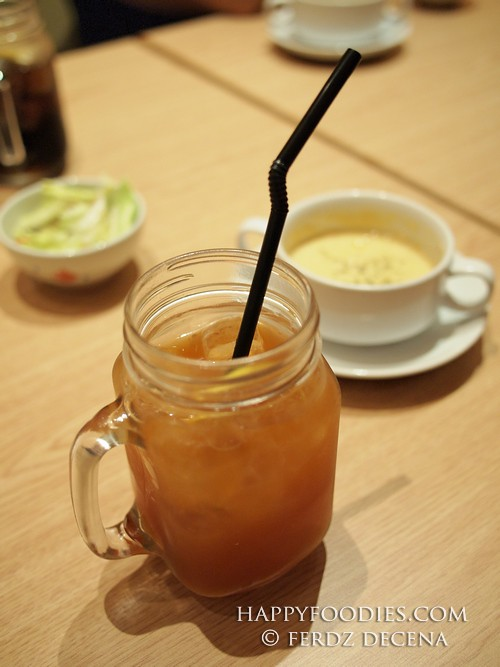 Iced Lemon Tea as choice of drinks