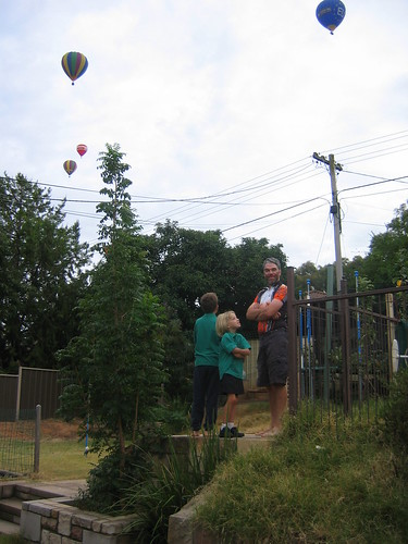 Family, hot air balloons, apple trees 2009