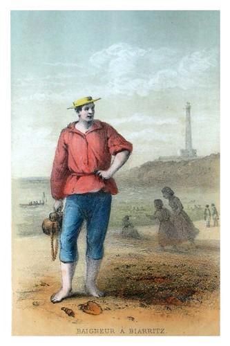 002-Bañista en Biarritz-Costumes pyrénéens-1860