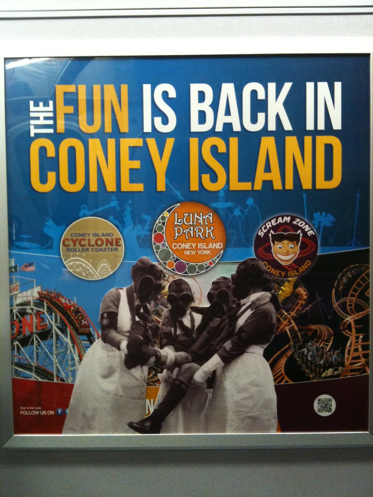 The fun is back in Coney Island / Trench Warfare, WWI