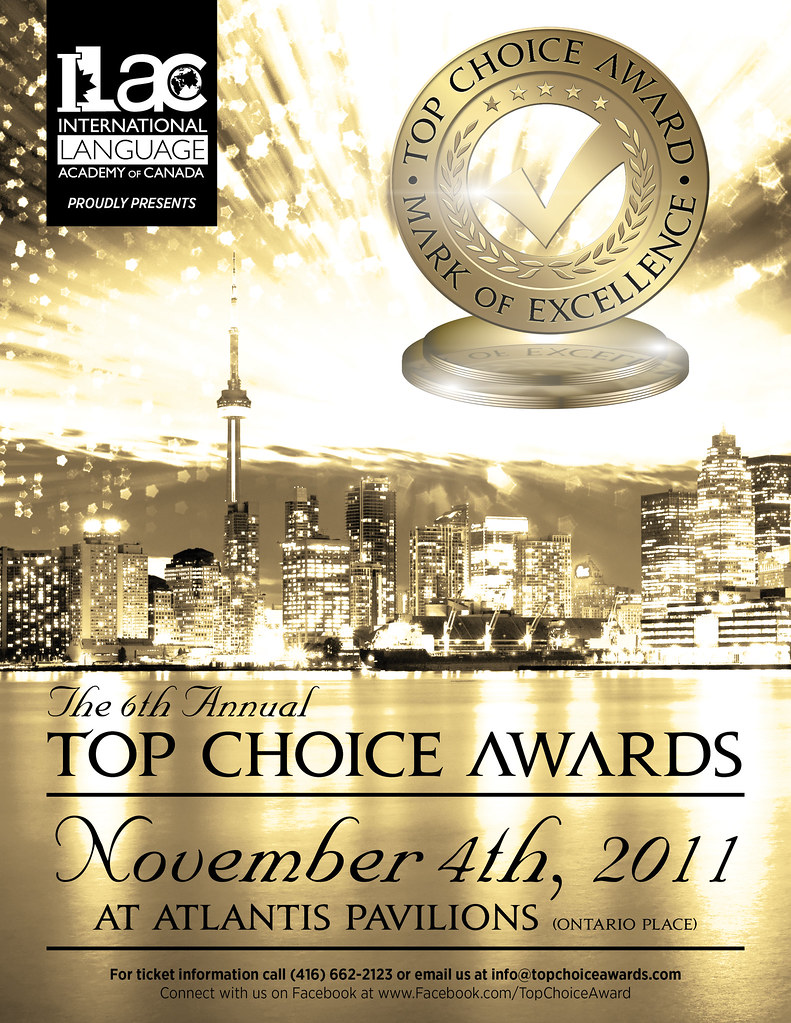 6th Annual Top Choice Awards Poster