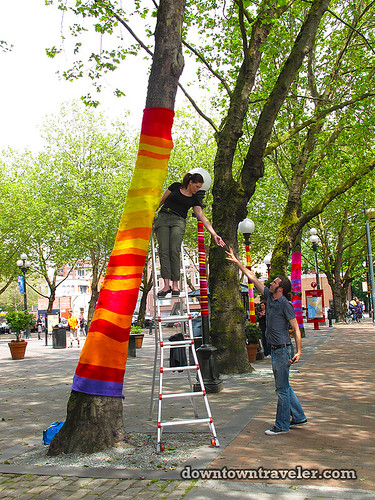 Seattle knit trees public art 10