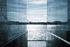 (Sameli) Tags: city blue sea reflection water glass suomi finland helsinki
