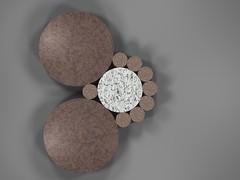 Fibonacci Coin Packing (fdecomite) Tags: circle coin geometry packing fibonacci math povray