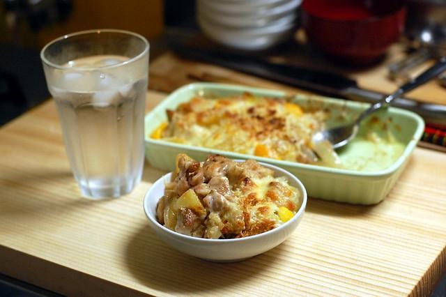 部長飯トリビュート。鶏モモとジャガイモのオーブンチーズ焼き!