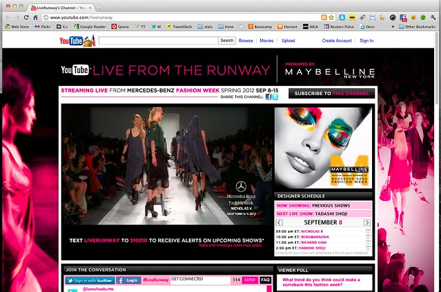 Streaming Live from Mercedes-Benz Fashion Week Spring 2012