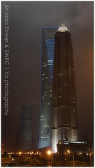 Shanghai World Financial Center & Jin Mao Tower (Yo photography) Tags: world china tower shanghai jin grand center mao hyatt  pudong financial jinmaotower  lujiazui kohnpedersenfox   grandhyattshanghai  shanghaiworldfinancialcenter