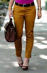 H&M mustard pants