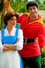 Belle and Gaston (abelle2) Tags: epcot princess disney disneyworld belle wdw waltdisneyworld villain gaston beautyandthebeast disneyprincess futureworld disneyvillain princessbelle characterspot