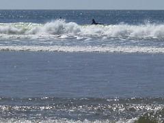Surf and surfer at Short Sands Beach (hartjeff12) Tags: beach oregon oswaldweststatepark shortsands