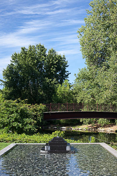 Thai Water Feature and Bridge over Starkweather