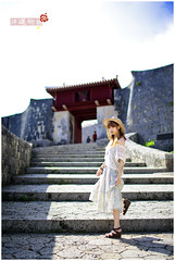 Okinawa-196 (IvanTung) Tags: travel blue sea cute rabbit girl beauty japan canon model mio  okinawa           5d2
