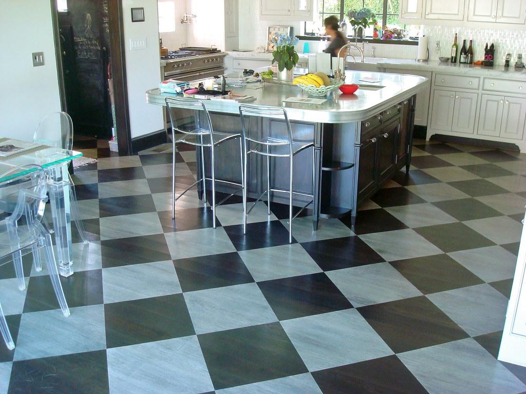 Kitchen Checkered Floor