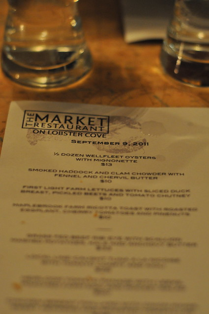Dinner at The Market Restaurant