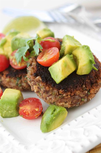 Black-Bean-Patties-with-Avocado-&-Tomato-Salsa-Recipe