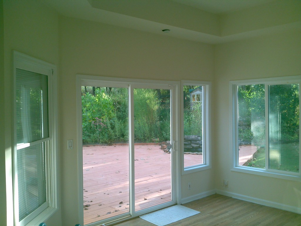 Kennsington Sienna Roller Shades/Sun Screens in a Sunroom