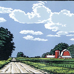 "<b>Headed Home</b><br/> Lennis Moore (1950-) Headed Home Color Woodcut, 2006 LFAC #2008:06:04<a href=""http://farm7.static.flickr.com/6077/6147187845_78c4246d7a_o.jpg"" title=""High res"">∝</a>"
