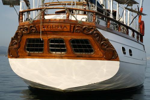 Uno de los barcos de alquiler