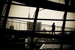 Hard to Leave (Pensiero) Tags: city panorama woman berlin glass donna torre reichstag cupola dome duomo citta vetro berlino berolina fernsehrturm