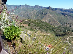 Gran Canaria - Artenara Facing Roque Bentaiga and Roque Nublo
