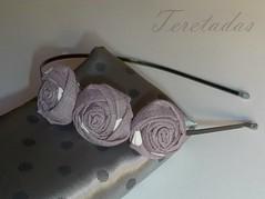 D.rosas3 2 (Teretadas) Tags: handmade headband hechoamano diademas fabricroses accesoriosparaelcabello rosadetela